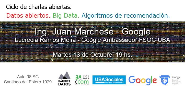 GoogleXGoogle. Crónica del Primer encuentro del ciclo Big Data y algoritmos de recomendación.
